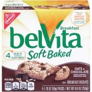 Nabisco Belvita Breakfast Soft Baked Cookies Chocolate Oat, 1.76 Ounce -- 30 per case.