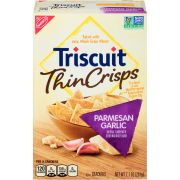 Nabisco Triscuit Thin Crisps Parmesan Garlic Crackers, 7.1 Ounce -- 6 per case.