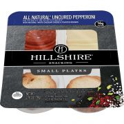 Hillshire Snacking All Natural Uncured Pepperoni with Natural White Cheddar Cheese, 2.76 Ounce -- 12 per case.