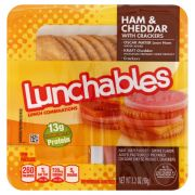 Kraft Oscar Mayer Lunchable Ham and Cheddar Cheese, 4.5 Ounce -- 16 per case.