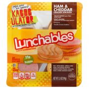Kraft Oscar Mayer Lunchable Ham and Cheddar Cracker Stacker, 3.5 Ounce -- 16 per case.