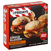 TGI Fridays Barbeque Bacon Angus Sliders Entrees and Sides, 11.25 Ounce -- 4 per case.