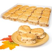 Bridgford White Whole Wheat Maple Flavored Biscuits -- 100 per case.