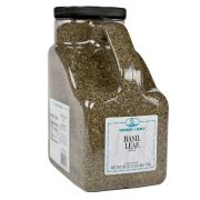 Traders Choice Whole Leaf Basil - 1.625 lb. container, 1 per case