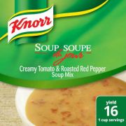 Knorr Professional Soup du Jour Creamy Tomato and Roasted Red Pepper Soup Mix, 17.1 ounce -- 4 per case