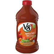 V8 Spicy Hot 100 Percent Vegetable Juice, 64 Fluid Ounce -- 6 per case