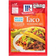 Mccormick Less Sodium Taco Seasoning, 1 Ounce -- 12 per case.