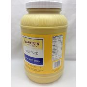 C.F. Sauer Foods Mustard With Bran, 1 Gallon -- 4 per case.
