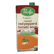 Pacific Foods Organic Creamy Light Sodium Roasted Red Pepper and Tomato Soup, 32 Fluid Ounce -- 12 per case.