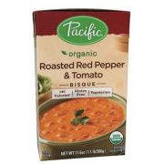 Pacific Foods Organic Roasted Red Pepper and Tomato Bisque, 17.6 Ounce -- 12 per case.