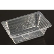 Par Pak Clear Plastic Square Single Portion Tray, 8 Ounce -- 1000 per case.