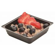 Par Pak Black Plastic Portion Pak Square Shallow Tray, 4 Ounce -- 2500 per case.