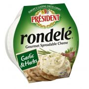Rondele Gourmet Garlic and Herb Cheese Spread, 8 Ounce -- 12 per case.