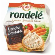 Rondele Gourmet Garden Vegetable Cheese Spread, 8 Ounce -- 12 per case.