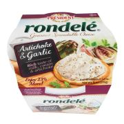 Rondele Gourmet Artichoke and Garlic Cheese Spread, 8 Ounce -- 12 per case.