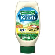 Clorox Hidden Valley Light Original Ranch Dressing, 20 Fluid Ounce -- 6 per case.