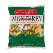 Culinary Select Monterey Vegetable Blend - 3 lb. packager, 8 packages per case