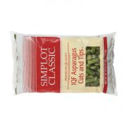 Simplot Cut and Tip Asparagus, 40 oz. package -- 6 packages per case.