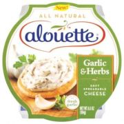Alouette Garlic and Herb Soft Spreadable Cheese, 6.5 Ounce -- 12 per case.