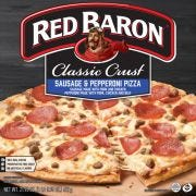 Red Baron Classic Sausage and Pepperoni Crust Pizza, 21.95 Ounce -- 16 per case.