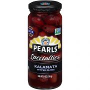 Pearls Specialties Kalamata Pitted Olives, 6 Ounce -- 6 per case.