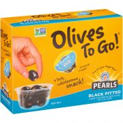 Pearls Black Ripe Olives, 1.2 Ounce Cup -- 96 per case.