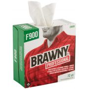 Brawny Professional F900 White Disposable Cleaning Towel - Tall Box, 72 count per box -- 10 box per case