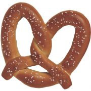 J and J Snack King Size Soft Pretzel, 5 Ounce -- 25 per case.