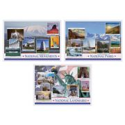 Hoffmaster 3 Designs National Pride Paper Placemat, 10 x 14 inch -- 1000 per case.