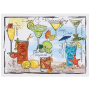 Hoffmaster Cocktails Paper Placemat, 10 x 14 inch -- 1000 per case.