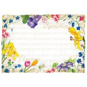 Hoffmaster Symphony Flowers Paper Placemat, 9.75 x 14 inch -- 1000 per case.