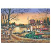 Hoffmaster Peaceful Evening Placemat, 9.75 x 14 inch -- 1000 per case.