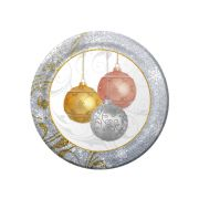 Hoffmaster Paper All That Glitters Round Dinner Plate, 10 inch -- 200 per case.
