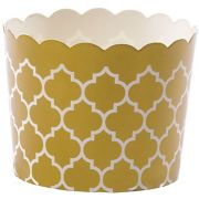 Hoffmaster Simply Baked Large Gold Quadrafoil Baking Cup, 2 1/8 x 2 3/8 inch -- 500 per case.