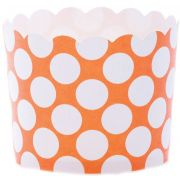 Hoffmaster Simply Baked Large Tangerine Dot Baking Cup, 2 1/8 x 2 3/8 inch -- 500 per case.