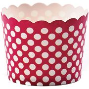 Hoffmaster Simply Baked Small Scarlet Dot Baking Cup, 1 5/8 x 1 7/8 inch -- 550 per case.