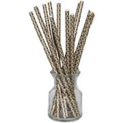 Hoffmaster Simply Baked Gold Quadrafoil Drinking Straw, 8 inch -- 500 per case.