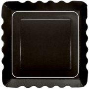 Hoffmaster Simply Baked Paper Black Appetizer Plate, 5 x 5 inch -- 200 per case.