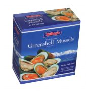 Packers New Zealand 1/2 Shell Mussels, 2 Pound -- 12 per case.