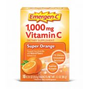 Emergen C Super Orange Flavored Fizzy Drink Mix Dietary Supplement - 10 per pack -- 36 packs per case.