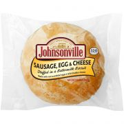 Johnsonville Sausage Egg and Cheese Stuffed in a Buttermilk Biscuit, 4 Ounce -- 16 per case.