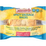 Johnsonville Jalapeno Split Sausage Egg and Cheese Everything Bagel, 5.4 Ounce -- 12 per case.