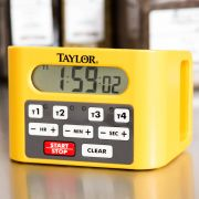 Taylor Yellow 4 Event Loud Digital Timer, 4.5 x 6.5 x 4.75 inch -- 2 per case.
