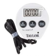 Taylors Chrome Digital Timer with Memory, 0.8 inch LCD Readout -- 6 per case.