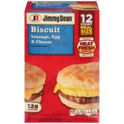 Jimmy Dean Sausage Egg and Cheese Biscuit Sandwich, 3.375 Pound -- 12 per case.