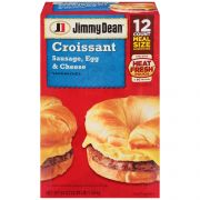 Jimmy Dean Sausage Egg and Cheese Croissant Sandwich, 3.375 Pound -- 12 per case.