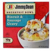 Jimmy Dean Biscuit and Sausage Gravy Breakfast Bowl, 9 Ounce -- 8 per case.
