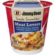Jimmy Dean Simple Scrambles Meat Lovers with Sausage Cheddar Cheese and Bacon, 5.349 Ounce -- 6 per case.