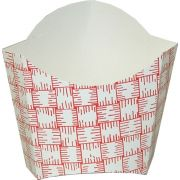 Dixie Red Plaid Small Glued French Fry Carton, 4 Ounce -- 1000 per case.