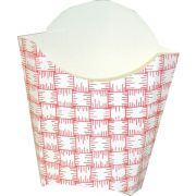 Dixie Red Plaid Large Glued French Fry Carton -- 500 per case.